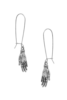 Palm Alloy Earrings E4092 - Silver
