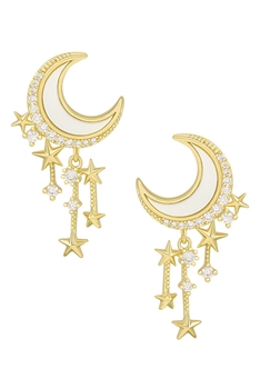 Moon Star Tassel Earrings E4110