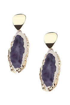 Irregular Acrylic Earrings E4131