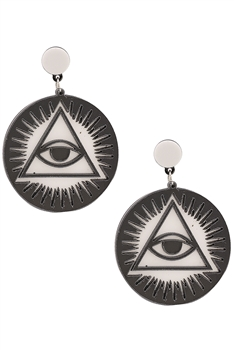Evil Eye Cricle Acrylic Earrings E4172