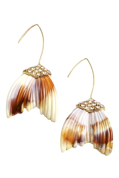 Fish Tail Acrylic Earrings E4179