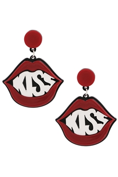 Mouth Acrylic Earrings E4196
