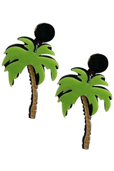 Coconut Tree Acrylic Earrings E4198