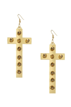 Cross Acrylic Earrings E4205