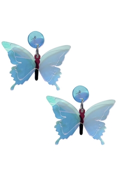 Butterfly Transparent Acrylic Earrings E4208