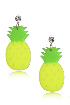 Pineapple Acrylic Earrings E4209