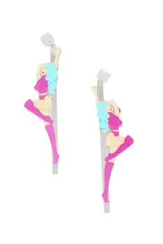 Dancer Acrylic Earrings E4214