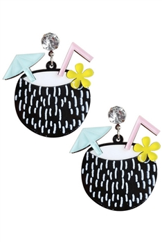 Coconut Acrylic Earrings E4220