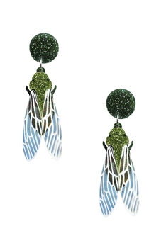 Insect Acrylic Earrings E4221