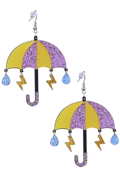 Umbrella Acrylic Earrings E4223
