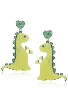 Dinosaur Acrylic Earrings E4228