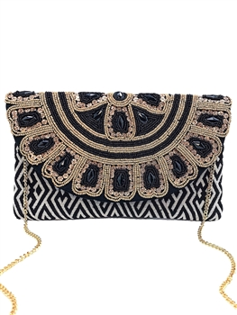 Floral Beaded Envelope Clutch EXW-2015