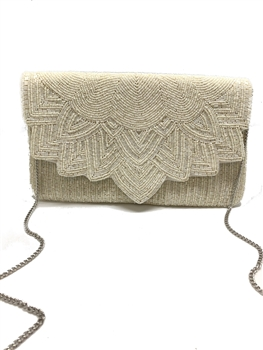 Floral Beaded Envelope Clutch Bag EXW-5051