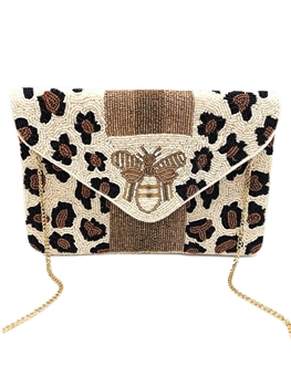 BEE-You Striped Beaded Clutch EXW-6034