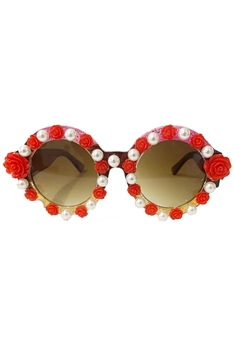 Handmade Floral Pearl Sunglasses G0152