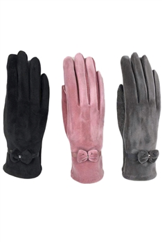 Bow Suede Gloves GL0006