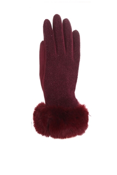 Wool Gloves GL131 - Red