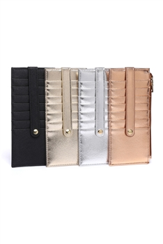 Fashion PU Leather Card Holder Wallets HB0001