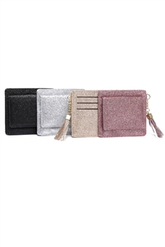 Fashion Mini PU Leather Tassel Coin Card Wallets HB0103