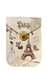 Fashion Paris Pattern Cellphone Pouches HB0104