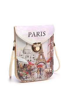 Fashion Paris Pattern Cellphone Pouches HB0104 - No.2