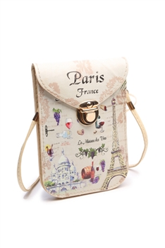 Fashion Paris Pattern Cellphone Pouches HB0104 - No.4
