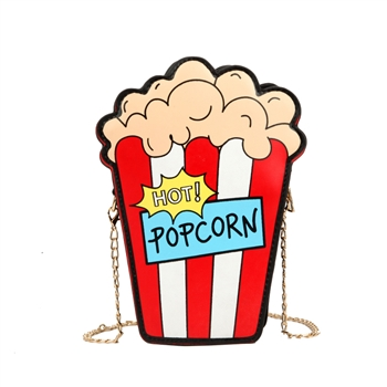 Cartoon Fun Popcorn Shaped Women Shoulder Bags HB0150