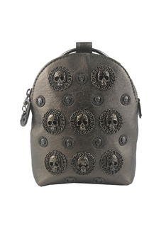 New Retro Metal Skull Leatherette Handbags HB0574