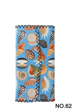 Sea life Ethnic Pattern Leatherette Wallet HB0582 - NO.62
