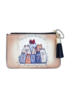 Cute Lovely Cartoon Cats Leatherette Coin Wallet HB0621
