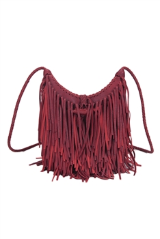 Middle Size Tassel Leatherette Crossbody HB0625-M - RED
