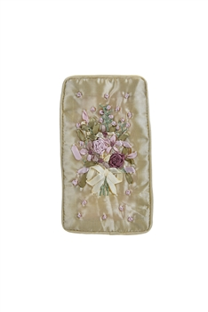 Flower Embroidery Cotton Eyeglasses Phone Bags HB0626 - Beige
