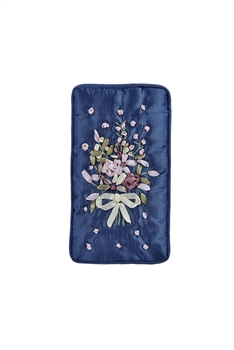 Flower Embroidery Cotton Eyeglasses Phone Bags HB0626 - Blue