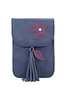 Fashion Women Leatherette Tassel Cellphone Pouch HB0639