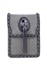 Fashion Leatherette Metal Tassel Handbags HB0641 - Grey