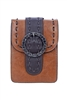 Fashion Women Leatherette Buckle Cellphone Pouch HB0642 - Brown