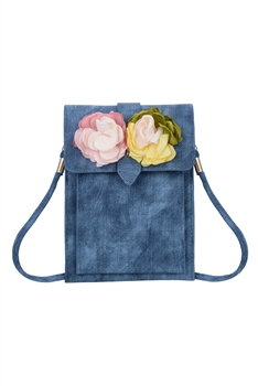 Flower Leatherette Metal Buckle Handbag HB0647