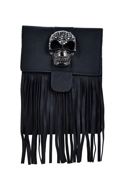 Crystal Skull Decoration Tassel Bag HB0648