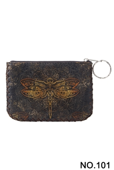 Dragonfly Printed Coin Purse HB0665 - NO.101