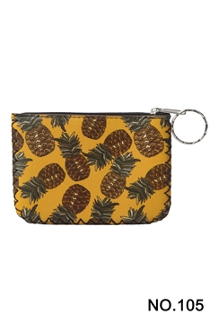 Pineapple Printed Coin Purse HB0665 - NO.105
