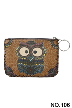 Owl Printed Coin Purse HB0665 - NO.106