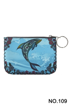 Dolphin Printed Coin Purse HB0665 - NO.109