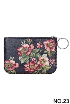 Fashion Flower Printed Wallet HB0665 - NO.23 BK