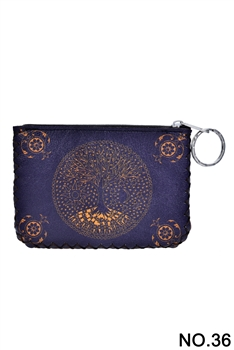 Tree of Life Pattern Printed Wallet HB0665 - NO.36
