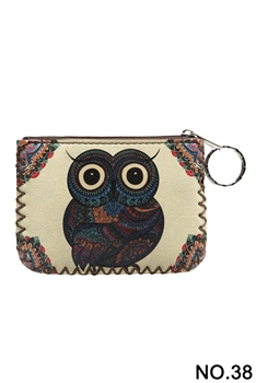 Owl Printed Coin Purse HB0665 - NO.38