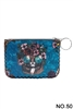 Floral Cat Printed Coin Purse HB0665 - NO.50 BL