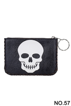 Skull Pattern Printed Wallet HB0665 - NO.57