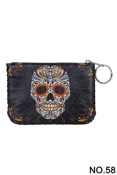 Skull Candy Pattern Printed Wallet HB0665 - NO.58