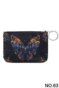 Butterfly Pattern Printed Wallet HB0665 - NO.63