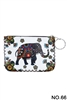 Floral Elephant Printed Coin Purse HB0665 - NO.66 WH